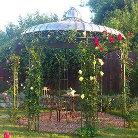 """Nostalgischer Garten Pavillon aus Schmiedeeisen - """"Safia"""""""