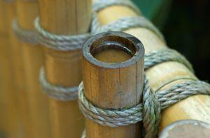 natuerlicher Bambuszaun