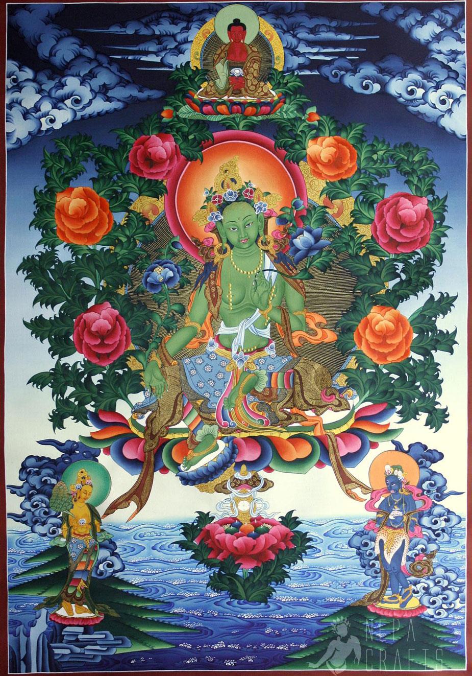 Buddha Thangka On Pinterest Green Tara Buddhists And