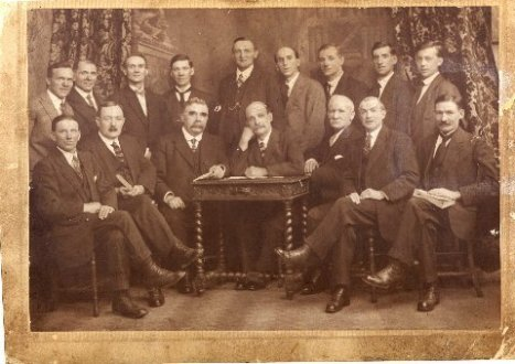 Lluest Institute Trustees-approx 1920 Herbert Pops Jones seated far right