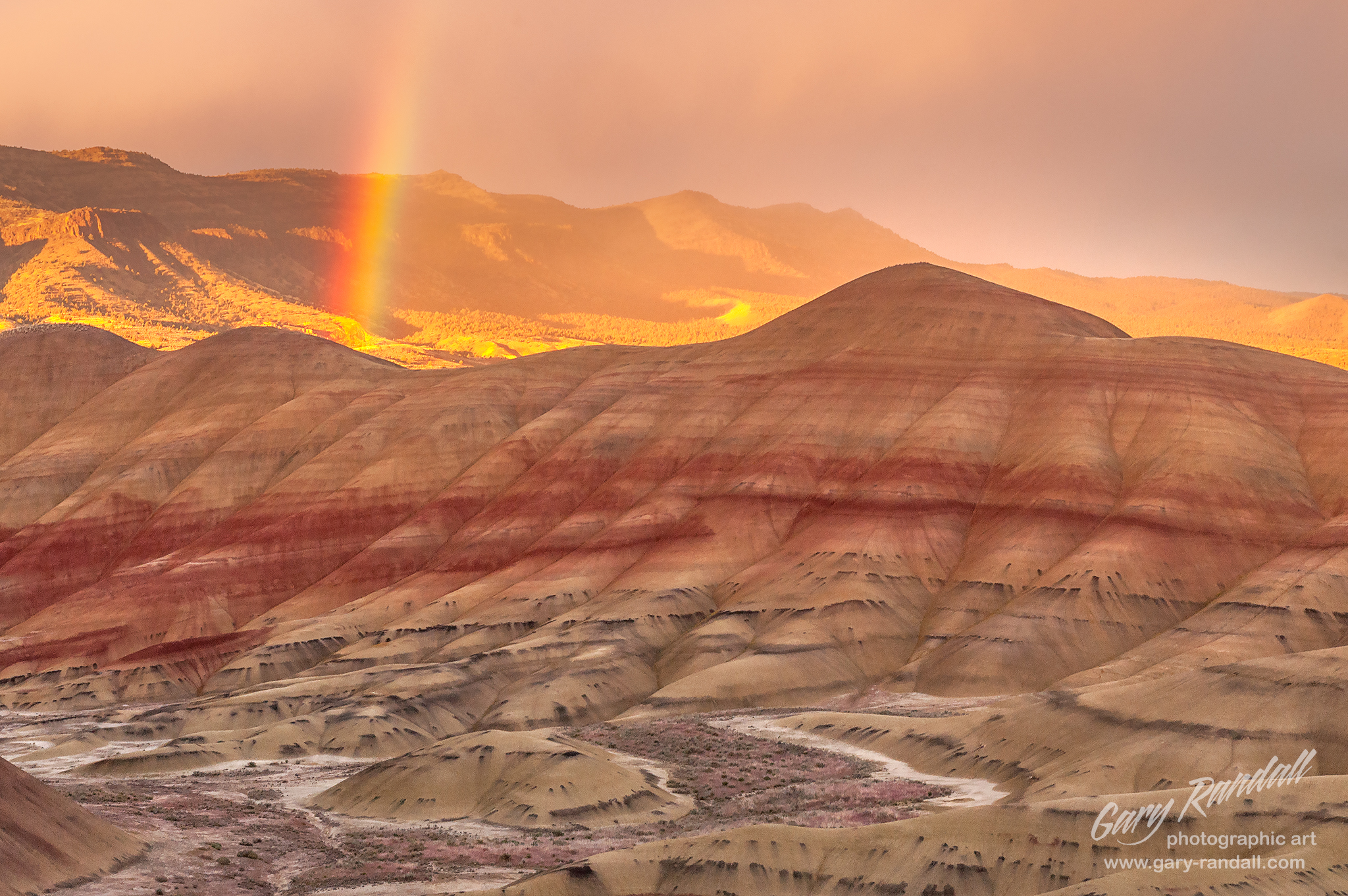 A Painted Hills Sunset