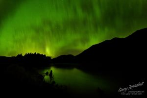 The aurora near Portage Alaska