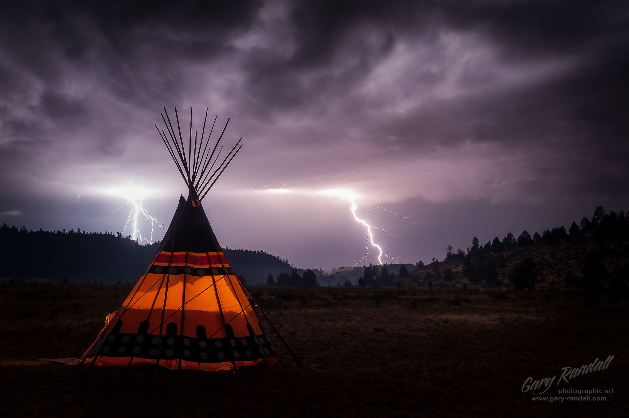 Medicine Lodge and Lightning at Simnasho