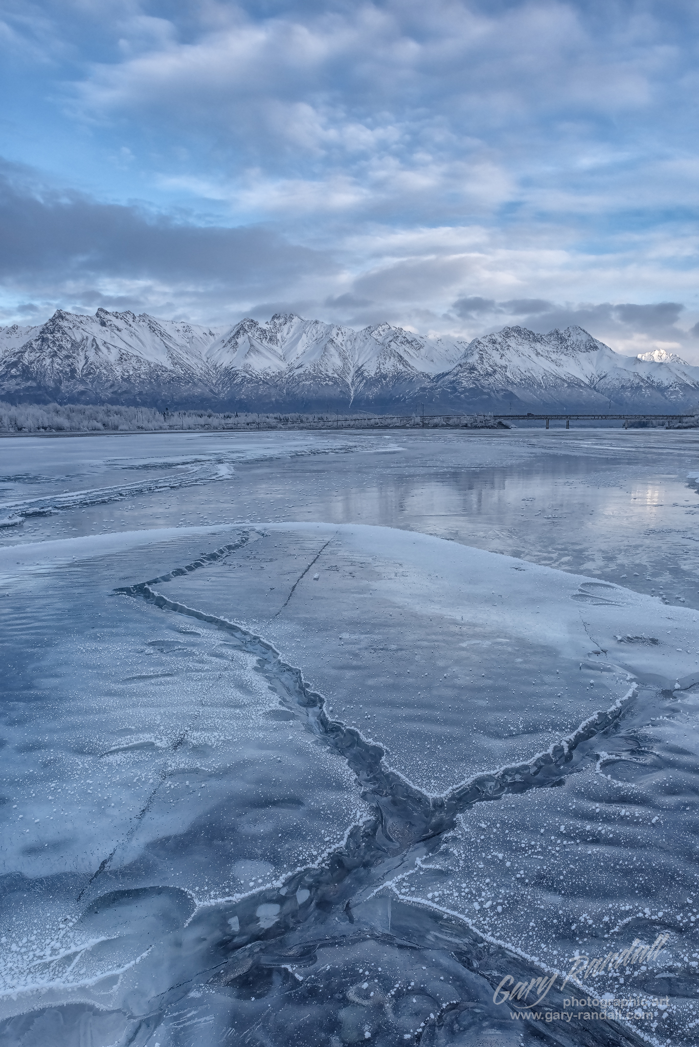 Knik River Ice Cracks
