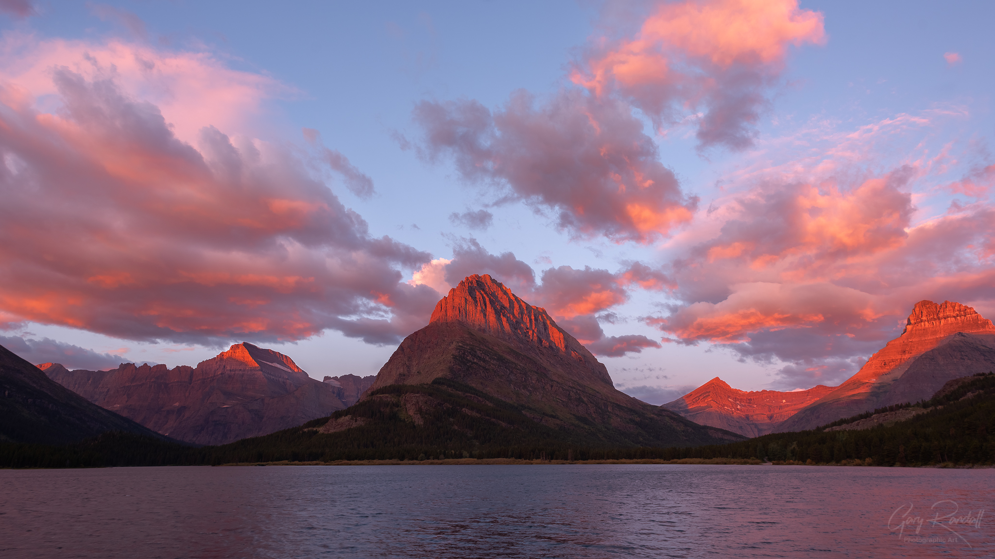 Grinnell Point at Swiftcurrent Lake