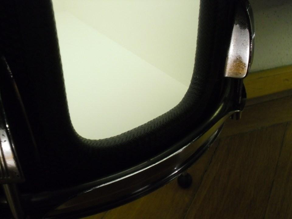 Schlagzeug Trommel, Holz, Metall, Plexiglas, Lack, textil, LED Beleuchtung mit Schalter. Tom drum,wood,metal,plexiglass,paint,fabrik,LED lighting with switch. Size: 50cm H x 34cm W