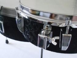 Schlagzeug Trommel, Tom, plexiglas, Lack, Textile. Bass drum, tom drum, perspex, paint, textile. 78cm x 55cm x max 52cm