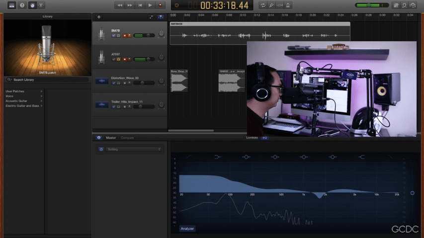 Realtime Voice Over Effects with SM7B vs AT897 Microphones