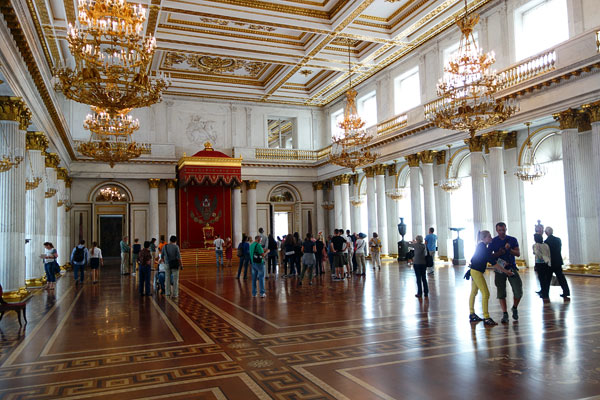 The Winter Palace throne room