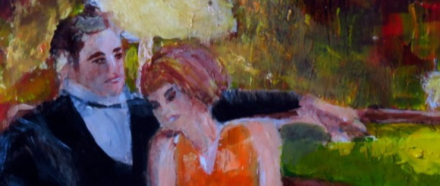 Couple Snuggles on Sofa detail 1