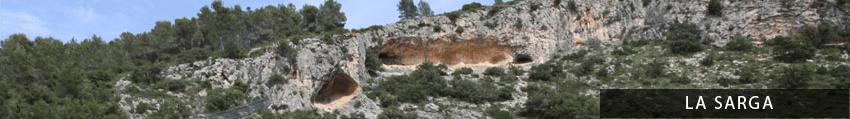 Caves art of La Sarga, Spain