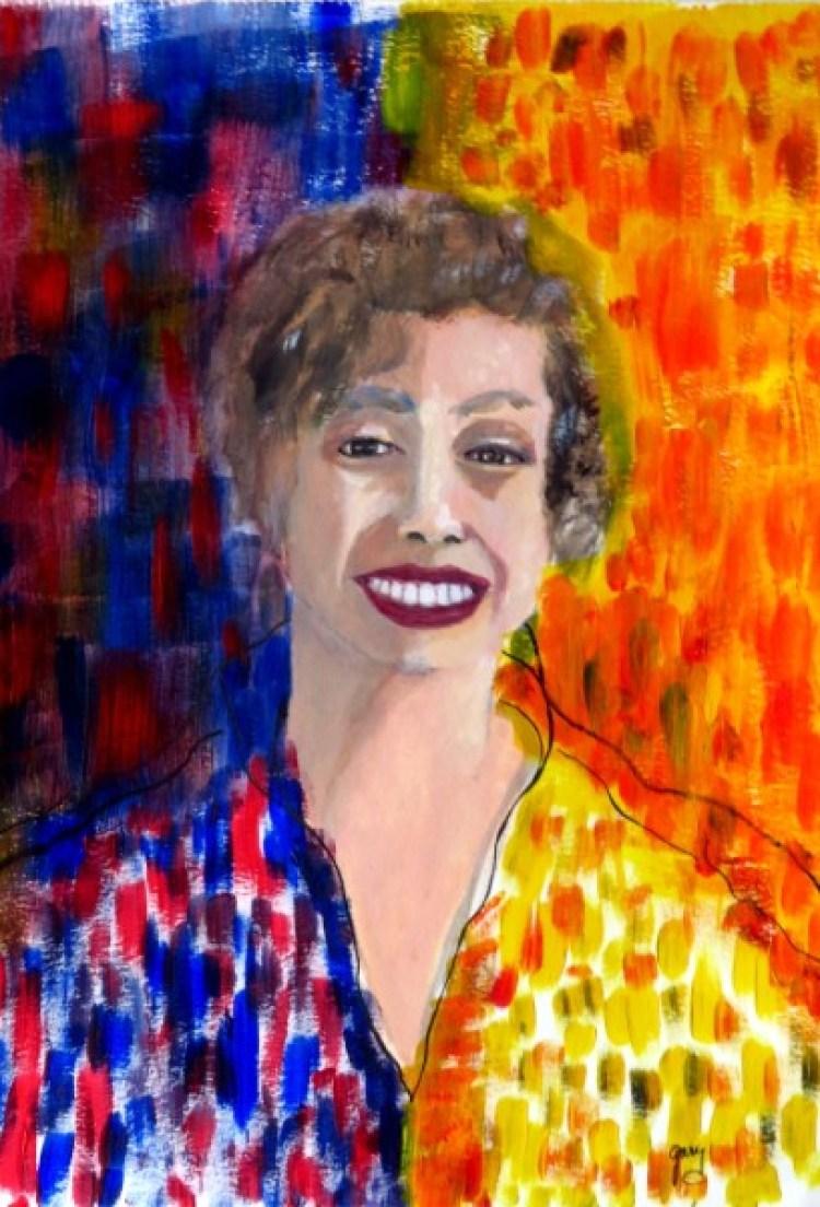 "Panamanian Women in Multi Color, 33 x 48 cm, 13 x 20"" acrylics"
