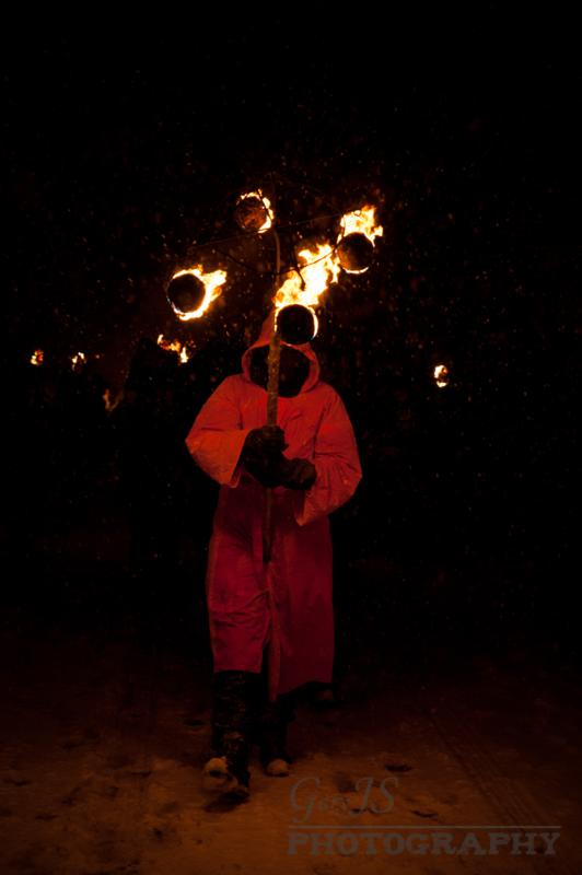 The druids lead the procession
