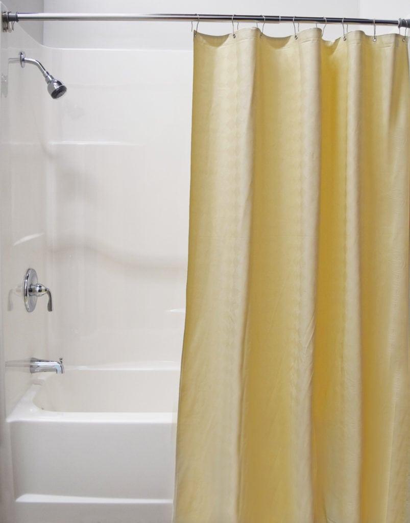 custom vinyl fabric shower curtains