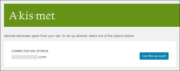 Connect Akismet