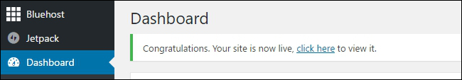 Wordpress Site Live