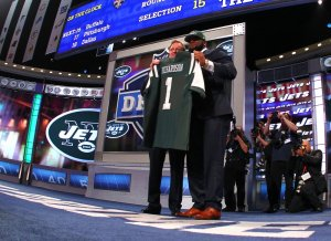 Sheldon Richardson during the 2013 NFL Draft on April 25, 2013 at Radio City Music Hall in New York, NY. (Ben Liebenberg/NFL)