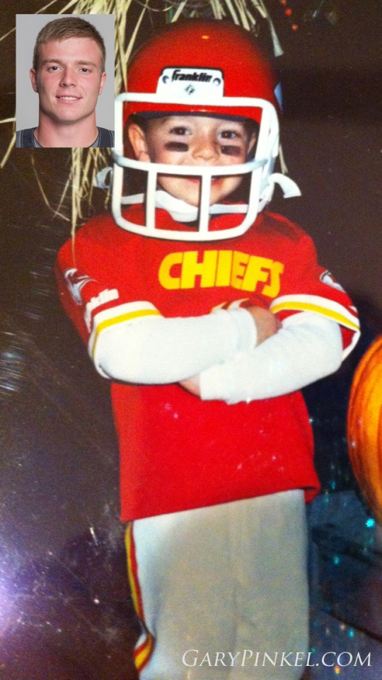 Mizzou Linebacker Joe Burkett dressed up as his idol - a Chiefs football player.