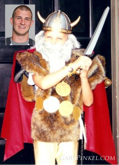 Mizzou Quarterback Eddie Printz was a Viking one Halloween.