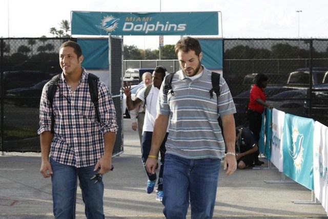 All-American Tight End Michael Egnew walks into Sun Life Stadium. - photo via MiamiDolpins.com