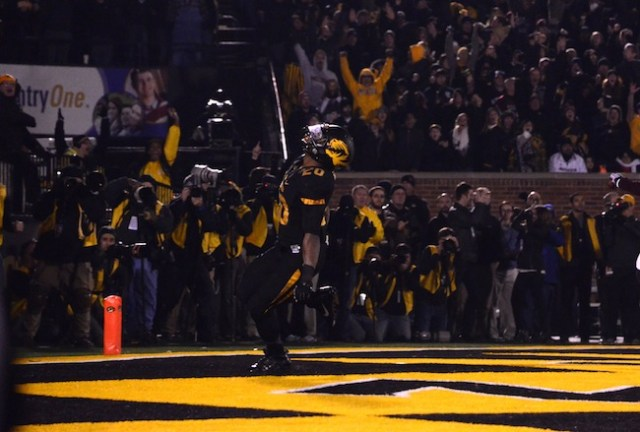 Henry Josey scores a touchdown during his final game in The ZOU.