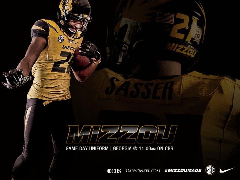 Mizzou Football Nike Uniform Combination October 11