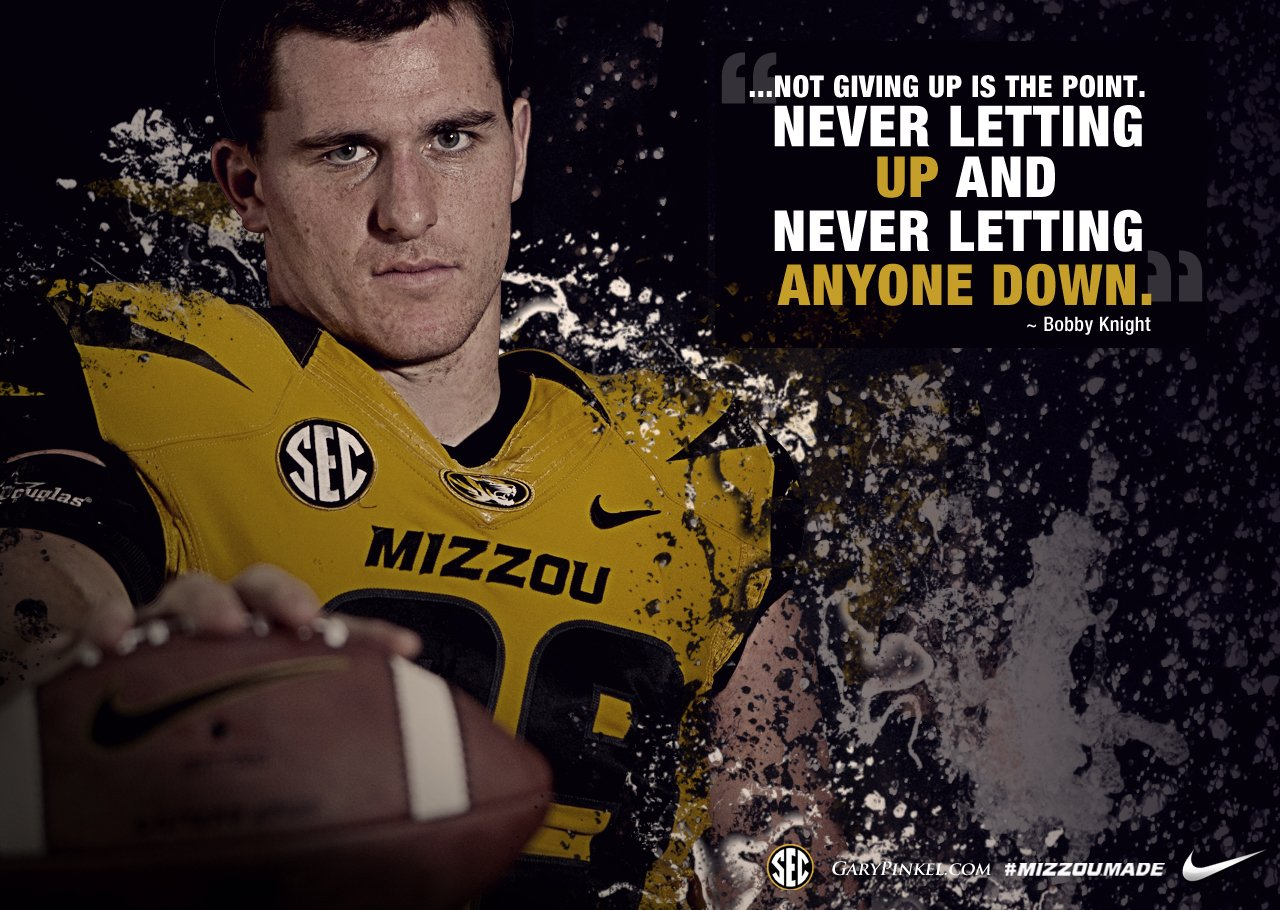 Make a Difference Mizzou Football Bobby Knight quote