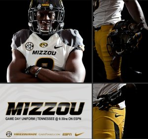 MAIN Mizzou Football Nike Uniform November 22 Darius White