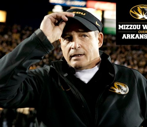 Coach Pinkel Mizzou Football Visor Battle Line Rivalry 2014