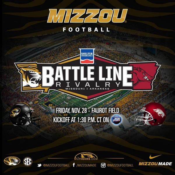 Battle Line Rivalry Mizzou Football 2014
