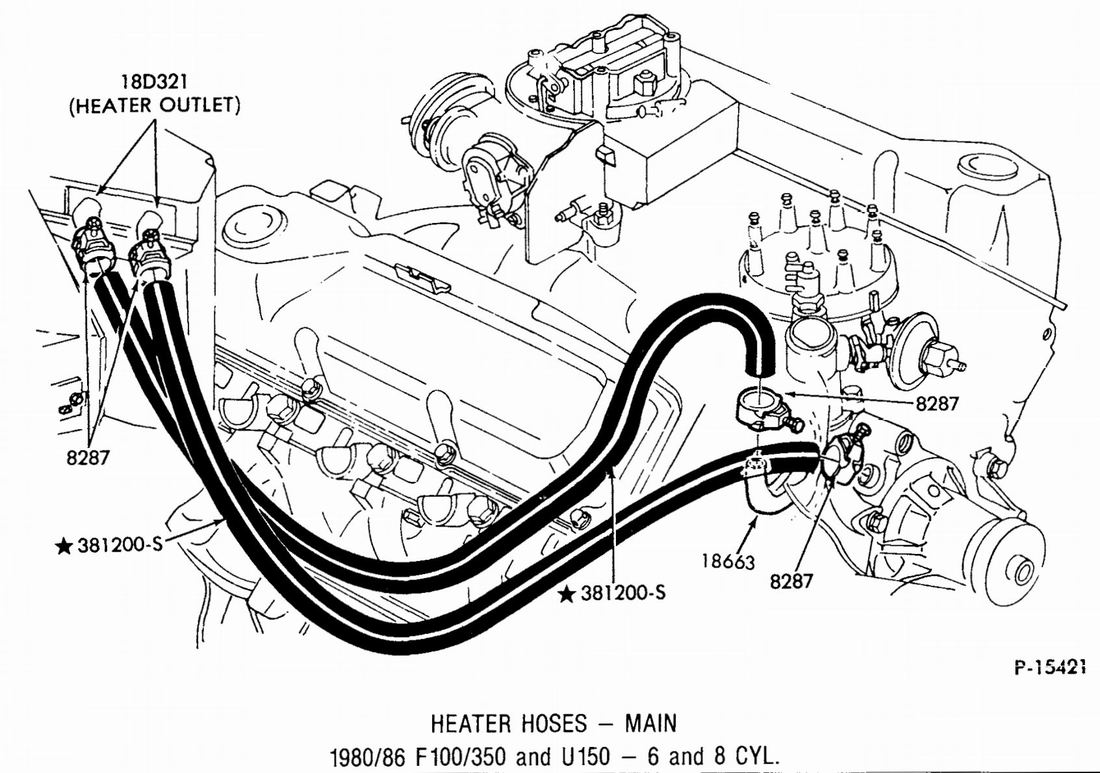 Ford 5 4 Heater Hose Diagram
