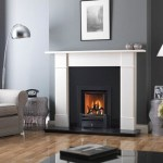 Hersham mantel with black granite back plate and hearth with DL400 gas fire
