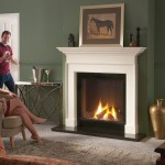 DL800 gas fire in Beaumont surround