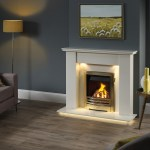 Avelar micro marble surround with gas fire