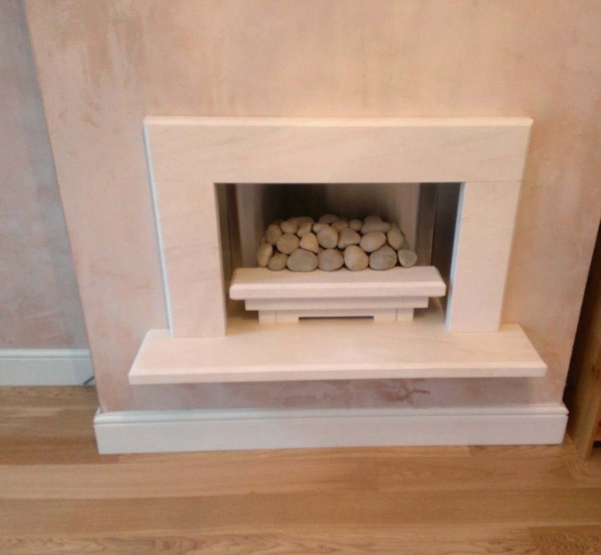 Limestone Baia with Electric Fire Prior to Decorating