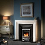Chancery mantel with Oxford cast plate and gas fire