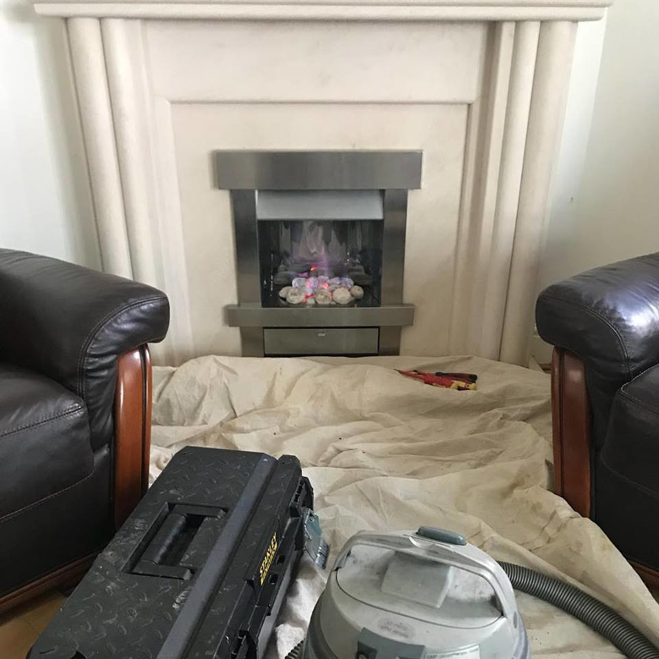 Annual service of gas fire