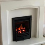 Eliana micro-marble fireplace with a Legend gas fire