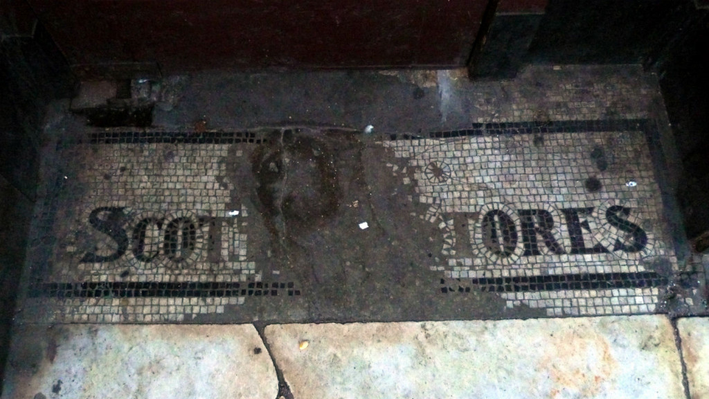Atmospheric: the tiled doorstep when it was still Flying Scotsman. Photo: Ewan Munro