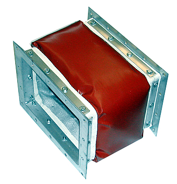 Aluminum Painted Vermiculite Coated Fiberglass expansion joint