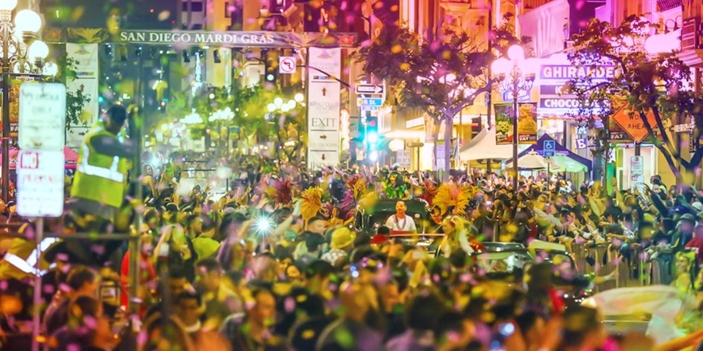 Image result for Gaslamp Quarter Mardi Gras