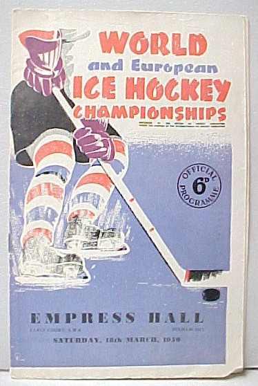 Vintage Ice Hockey Programs Memorabilia For Sale From