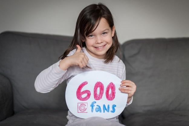 Gaspard et Lola 600 fans Facebook