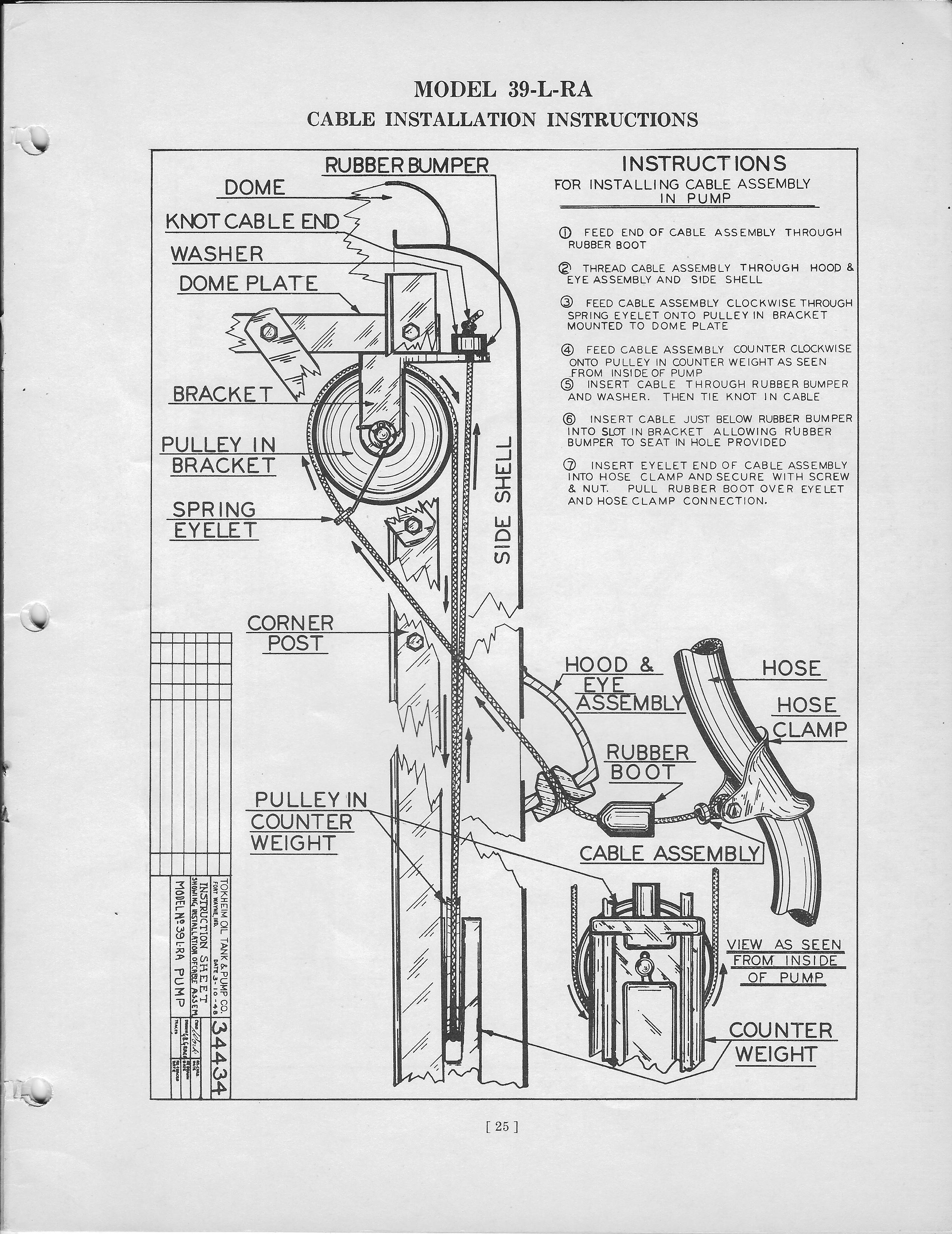 Tokheim 39 Short Gas Pump Parts