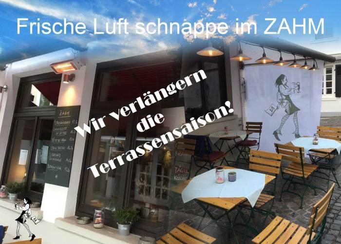 Restaurant Gasthaus Zahm - die Marktwirtschaft: Wir verlängern die Terrassensaison