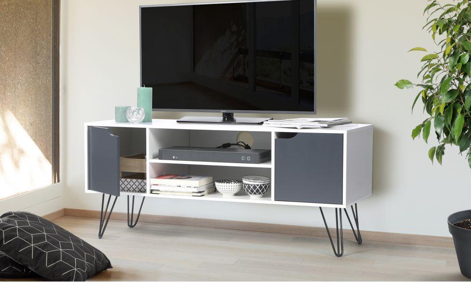 meuble tv pieds epingle