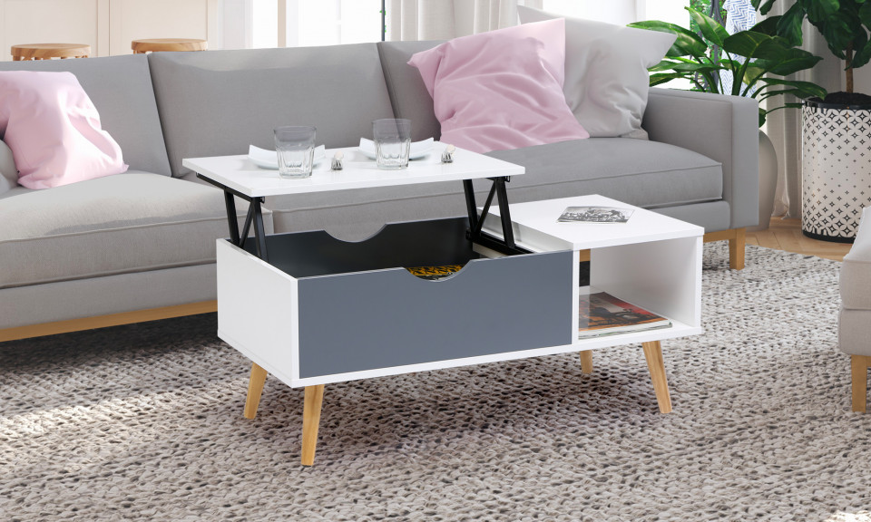 table basse plateau relevable alesund