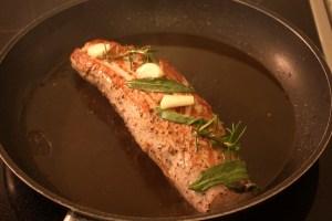 Filet vom Freilandschwein anbraten