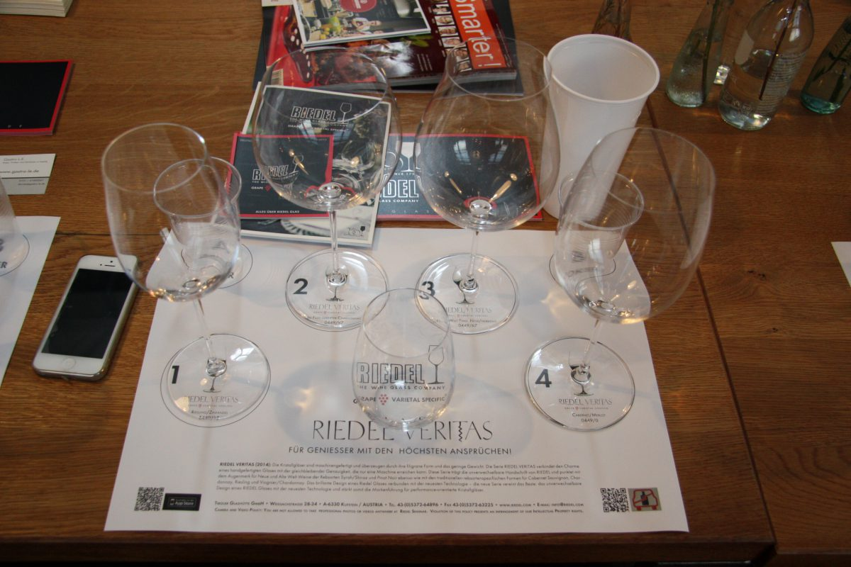 Riedel Glas Tasting