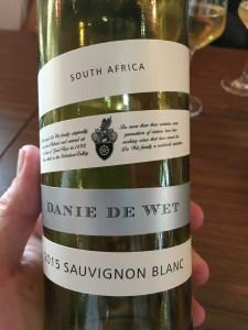 Danie de Wet - Sauvignon Blanc
